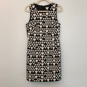 J. Crew Black and white geometric dress